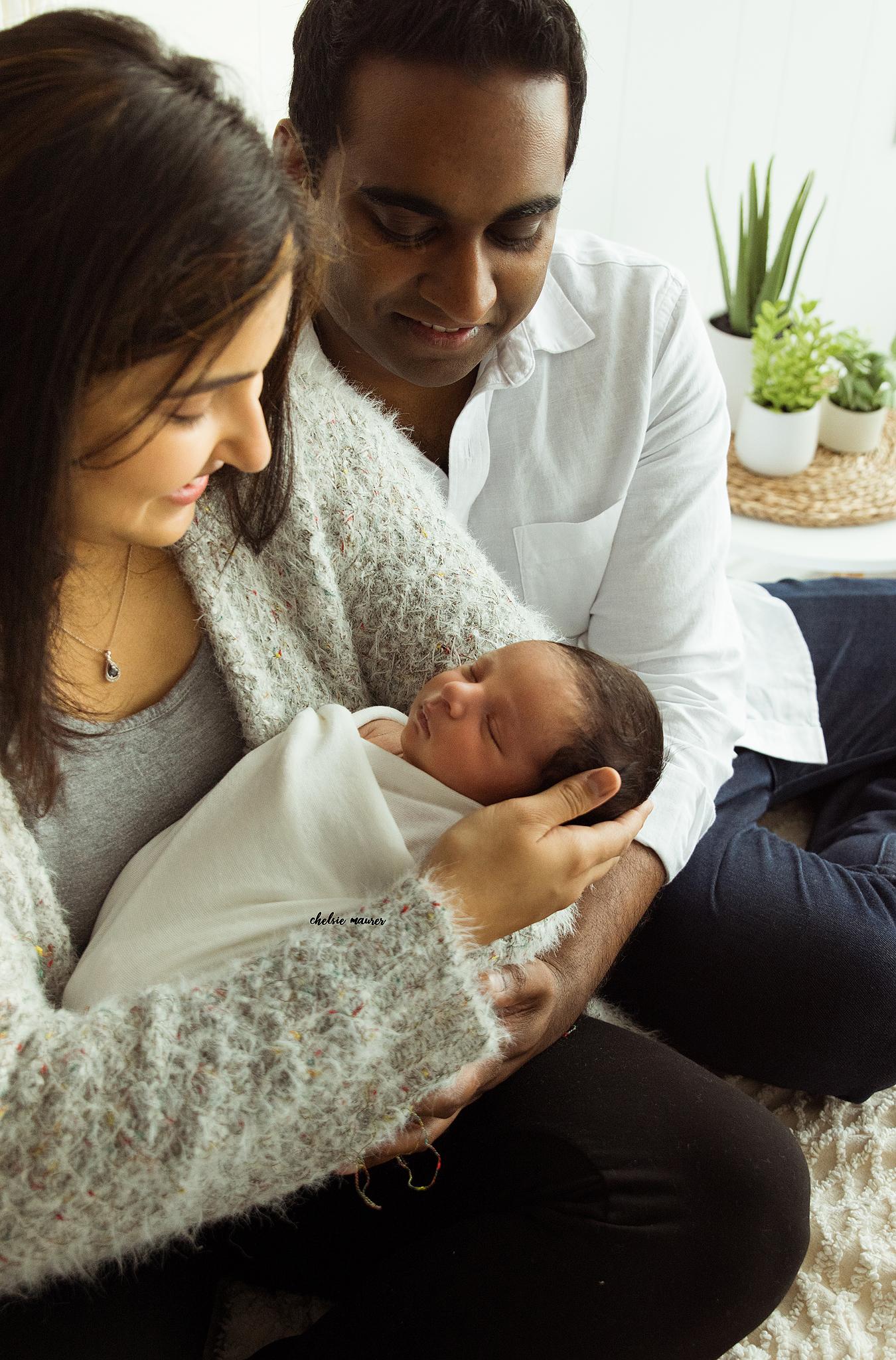 in-studio newborn picture