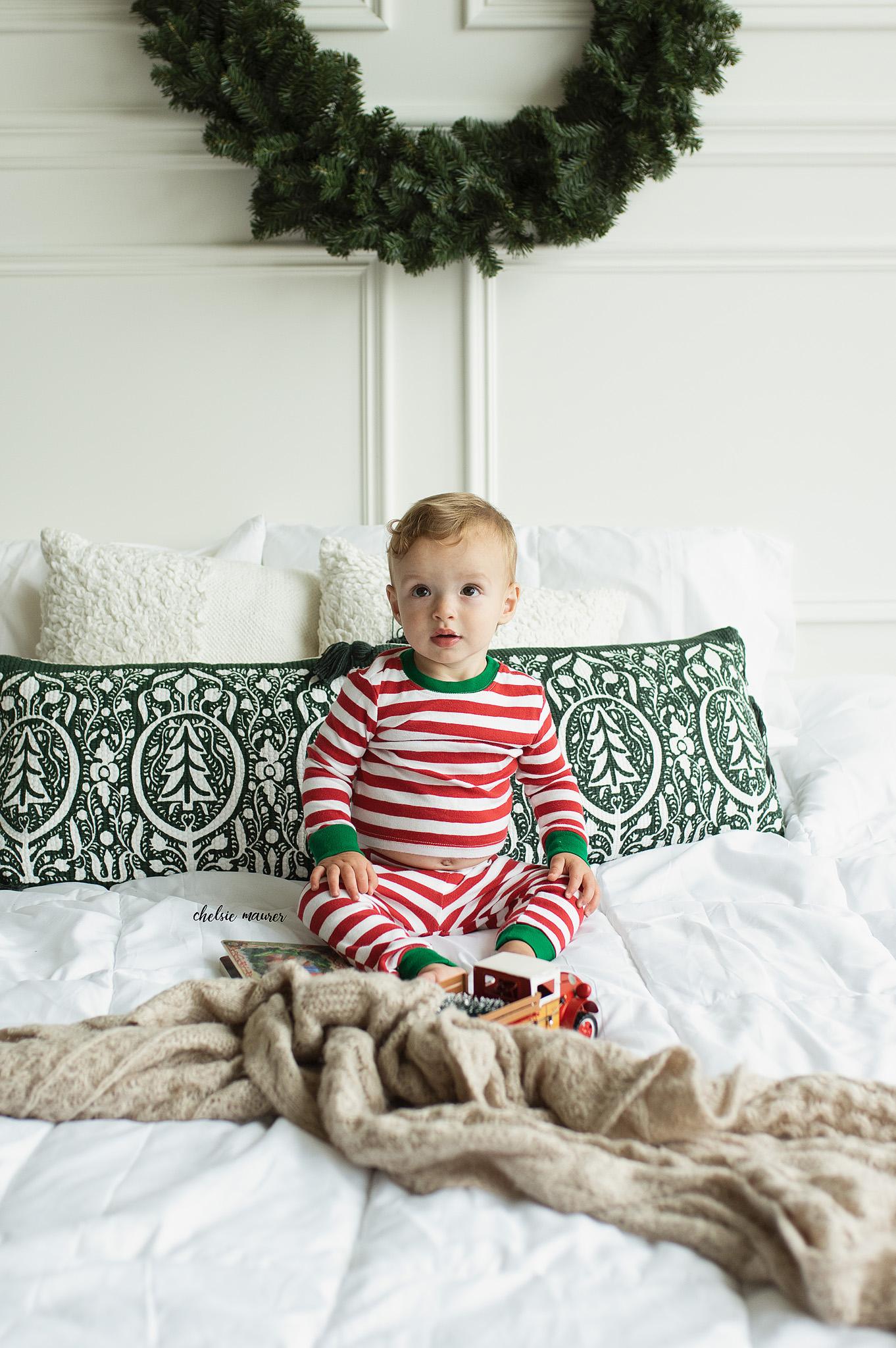 christmas pajama mini session detroit mi