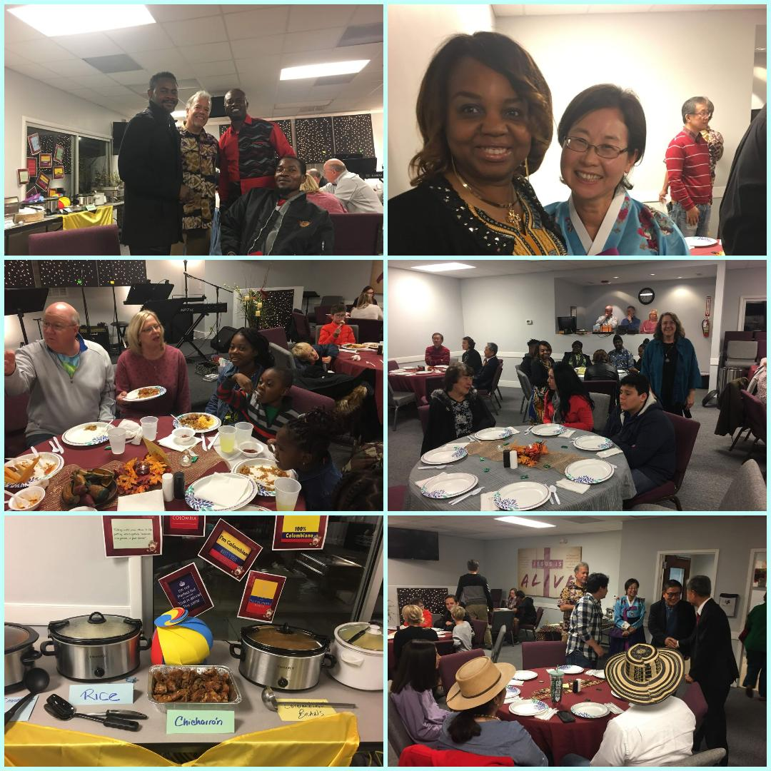 International Dinner - Saturday, November 9th, 6-7:30pm. Signup to bring a dish to share and celebrate all of the amazing cultures of the world right here at the church!