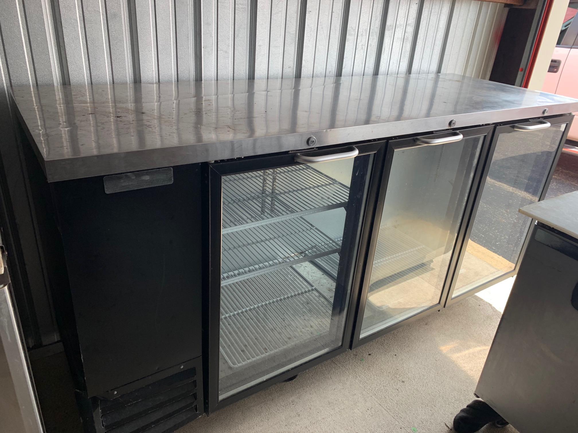 "59"" 2 Door Glass Back Bar Cooler"
