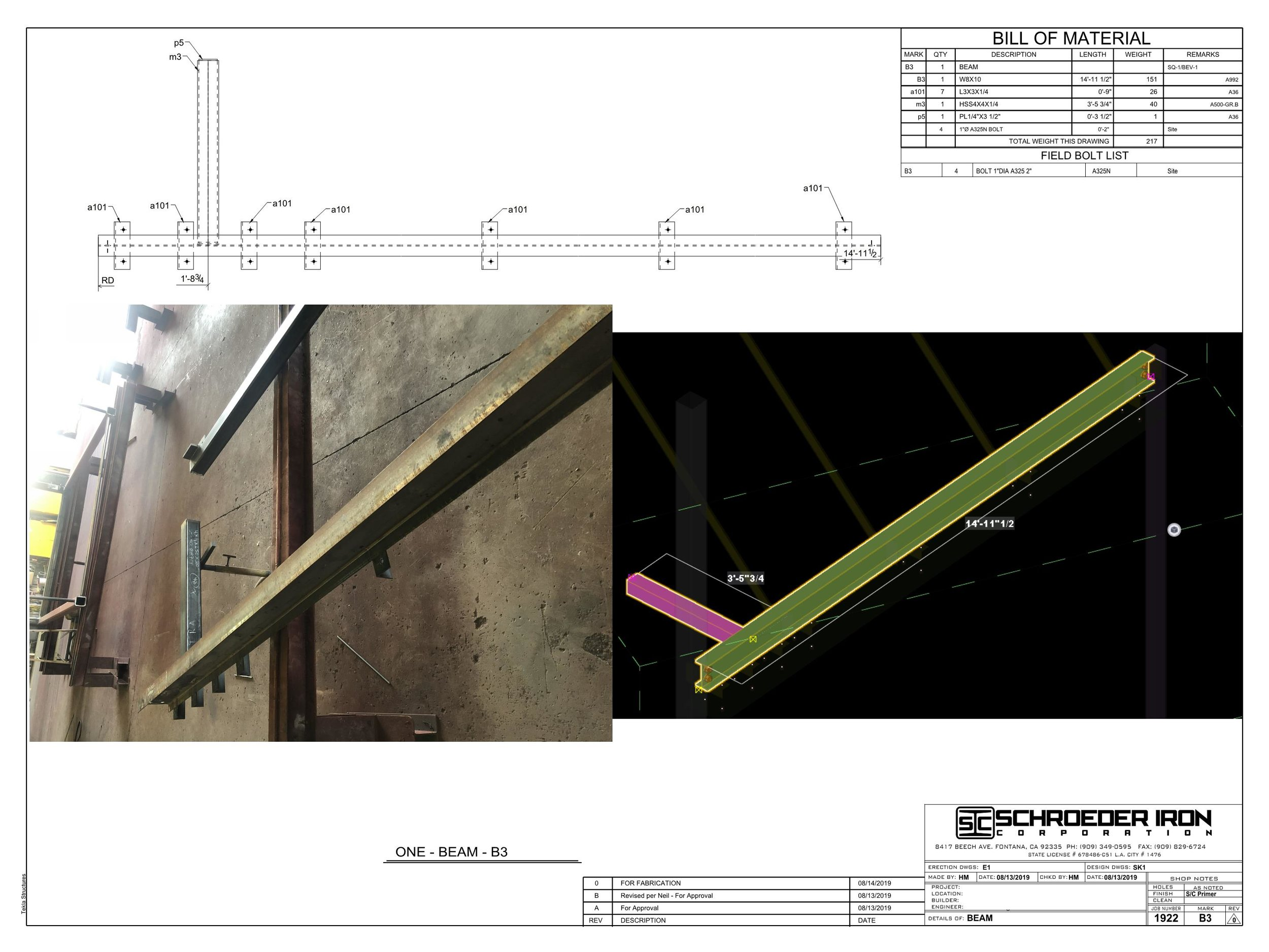 From 3D model, to paper, to steel we can control every aspect of your project.