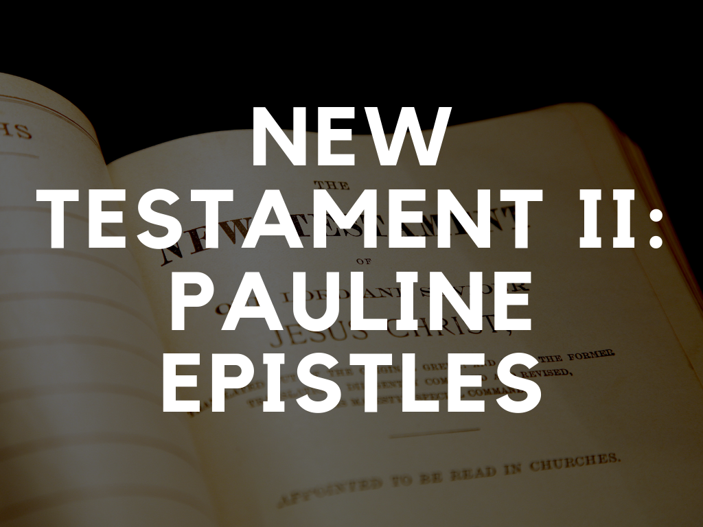 New Testament II: Pauline Epistles │ Dr. Pierre Constant - This New Testament course will help you translate the pastoral nature of these early apostolic letters to our modern day contexts.This course will run Mondays 10am–1pm.Location: The Bible House (315 Lisgar St, Ottawa, ON)DOWNLOAD SYLLABUS