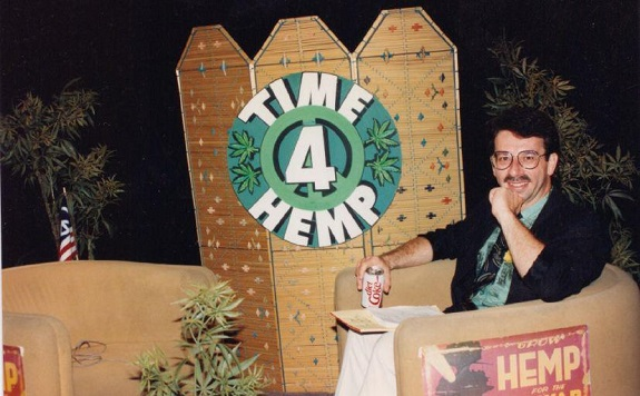 Casper Leitch on the set of 'Time 4 Hemp' - 1991