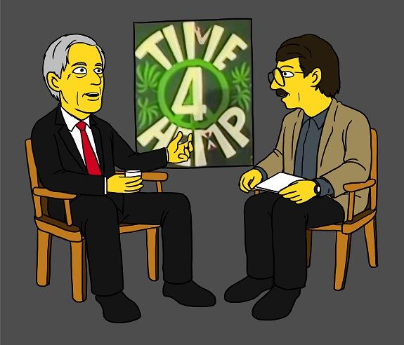 Dr Tim Leary and Casper Leitch enjoy Time 4 Hemp.