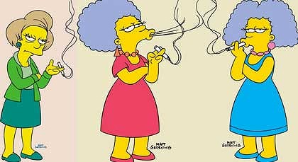 Marge Simpsons Sisters Are Smokin.