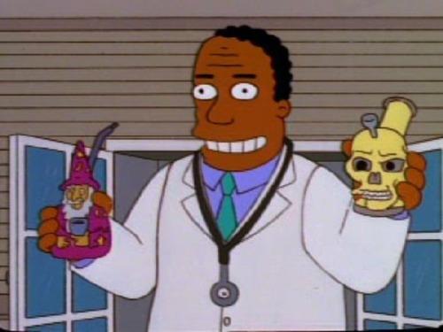 Homor Simpsons doctor supports meddical marijuana.