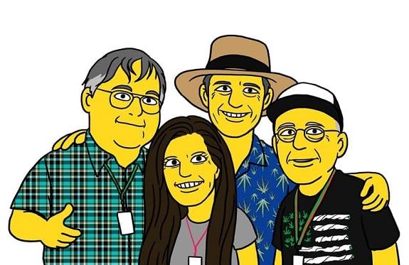 Casper Leitch and friends in Springfield.