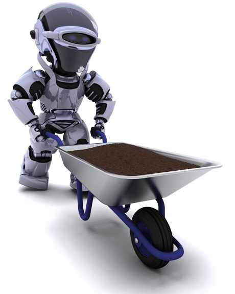 robot-gardener-with-wheelbarrow