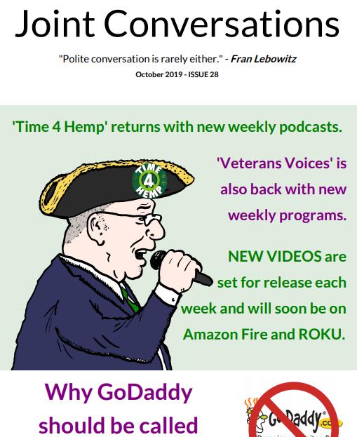 October 2019 Joint Conversations Newsletter