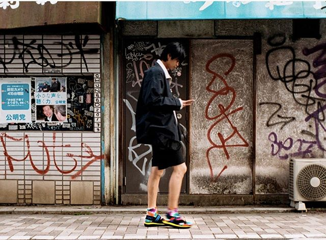 "The perfect sandal for the urban explorer. Check out the ""Shibuya Crossover"" editorial on @highsnobiety @hitec_japan #FindYourView"