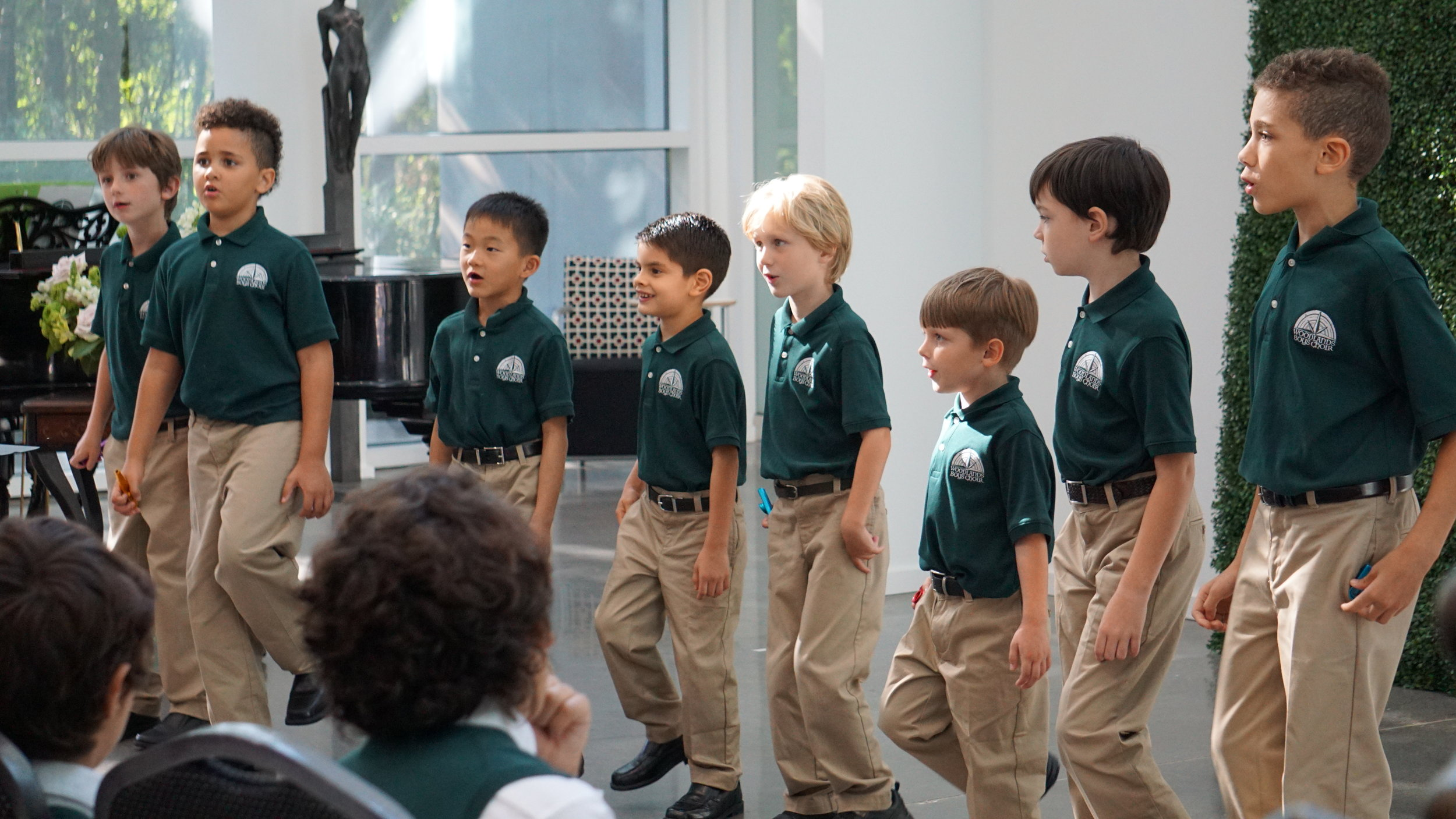 "Woodlands Boys Choir's ""TrebleMakers"" (ages 6-8) choir"