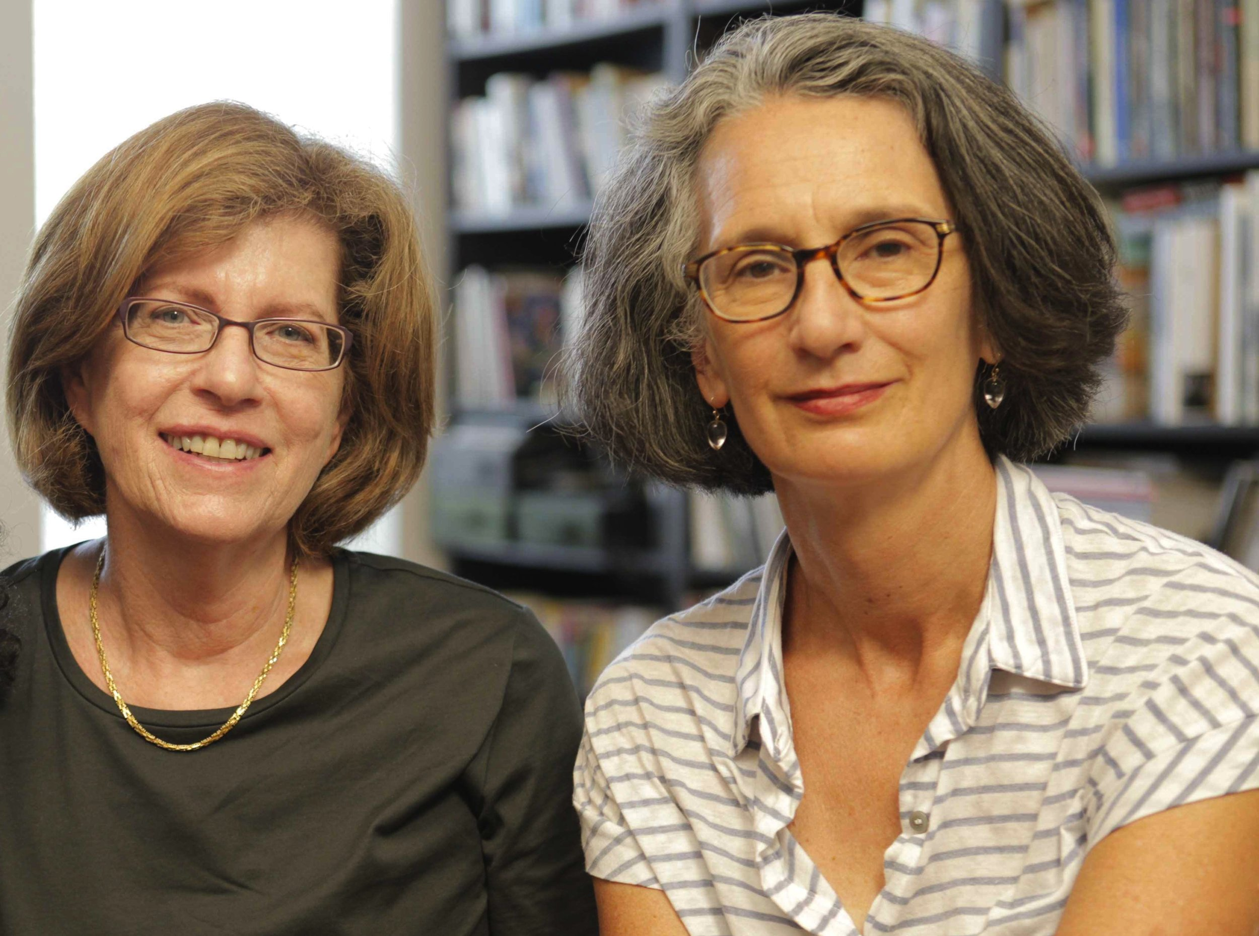 Barbara Attie (l) and Janet Goldwater