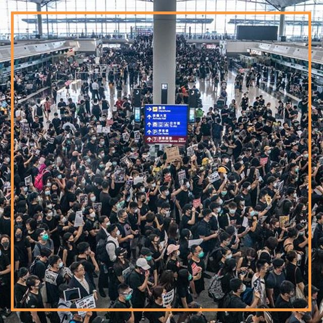 The Hong Kong protests shut down the city's international airport. Swipe 👆🏼 to read the story.