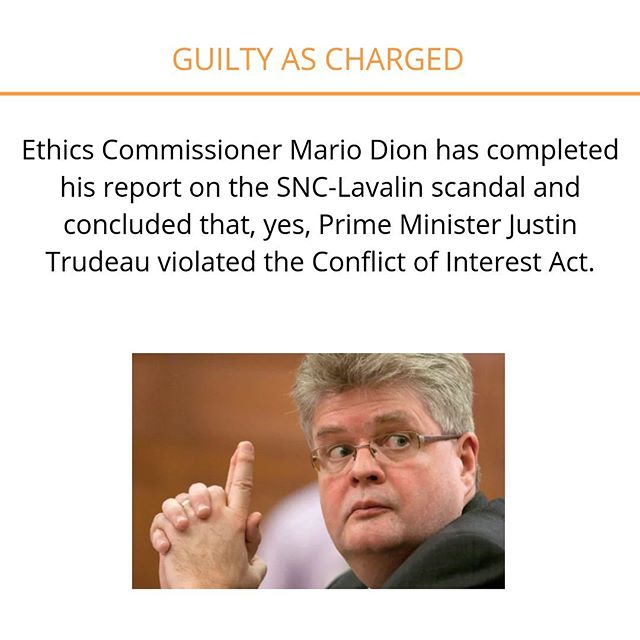 Prime Minister Justin Trudeau did, indeed, break rules in the SNC-Lavalin scandal. Swipe 👆🏼 to read the story.