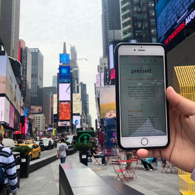 #PressedSpotted in NYC. You can take us anywhere :) Send us your vacay pics reading Pressed and we'll post some here (and try not to be jealous).