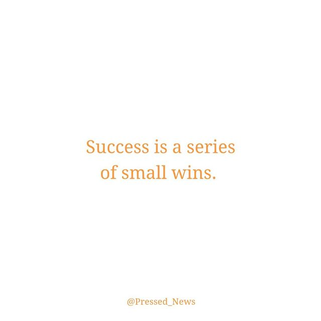 Go get those wins 👊🏼. #PressedNews #WednesdayWisdom