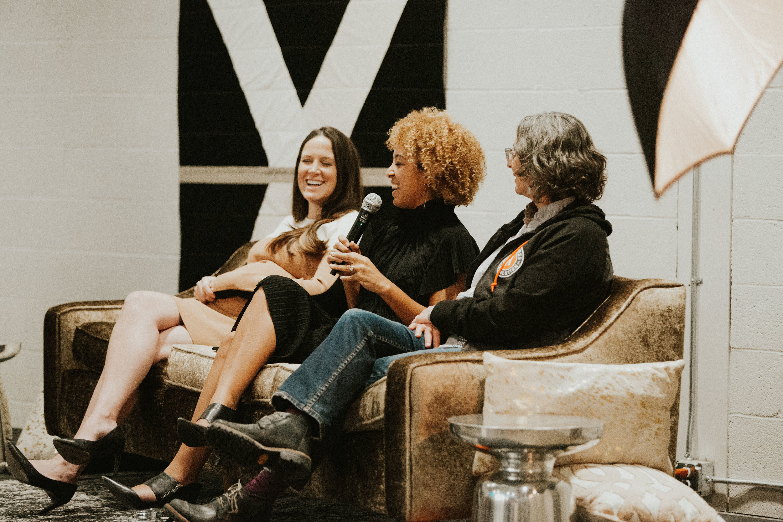 B.A Women's Fall 2018 panelists (left to right): Wynne Reece from The Creative's Counsel, Alex Steinman from The Coven, and Kim Bartmann from Bartmann Group. Photo by  Nicole Haugen .