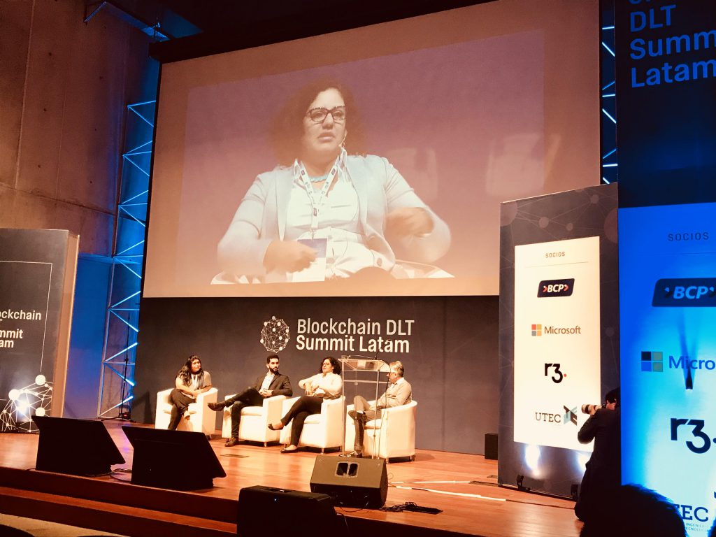 2017: I was a panelist for Social Inclusion topics at the Blockchain DLT Summit . Organized by BCP, Microsoft, r3, and UTEC