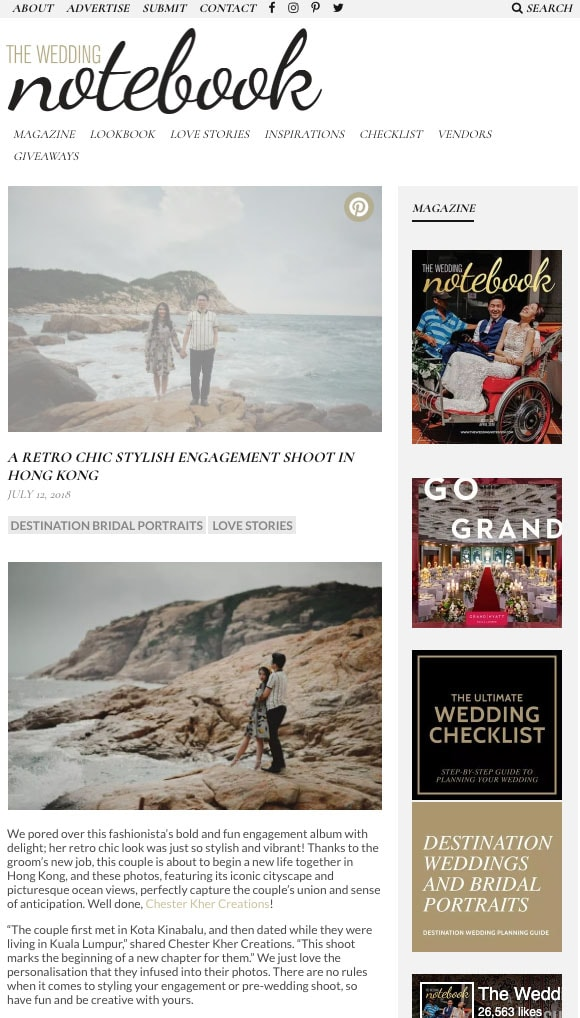 THE WEDDING NOTEBOOK - JULY 2018