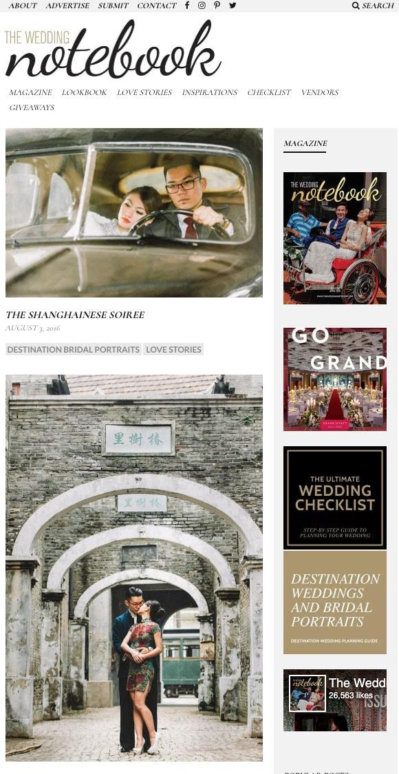 THE WEDDING NOTEBOOK - AUG 2016