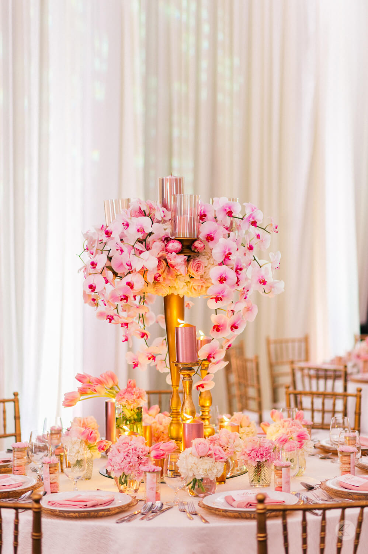 Blush & Gold Wedding Decor