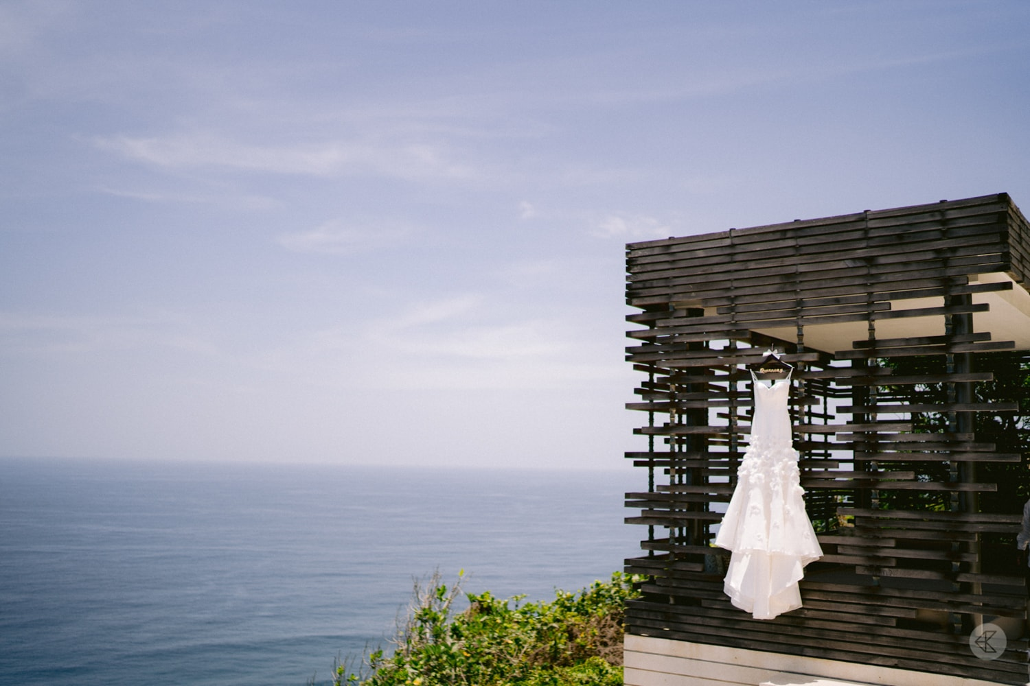 Gown with beautiful Bali scenery