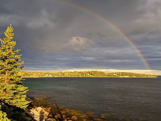 No words.  #visitnovascotia #rainbow #novascotia #explore #blackpoint #thecottage