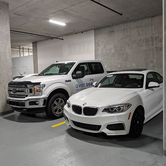 Our garage just got a whole lot sexier thanks to @brentronayne 😎 #bmw #bmwcanada #ford #fordf150