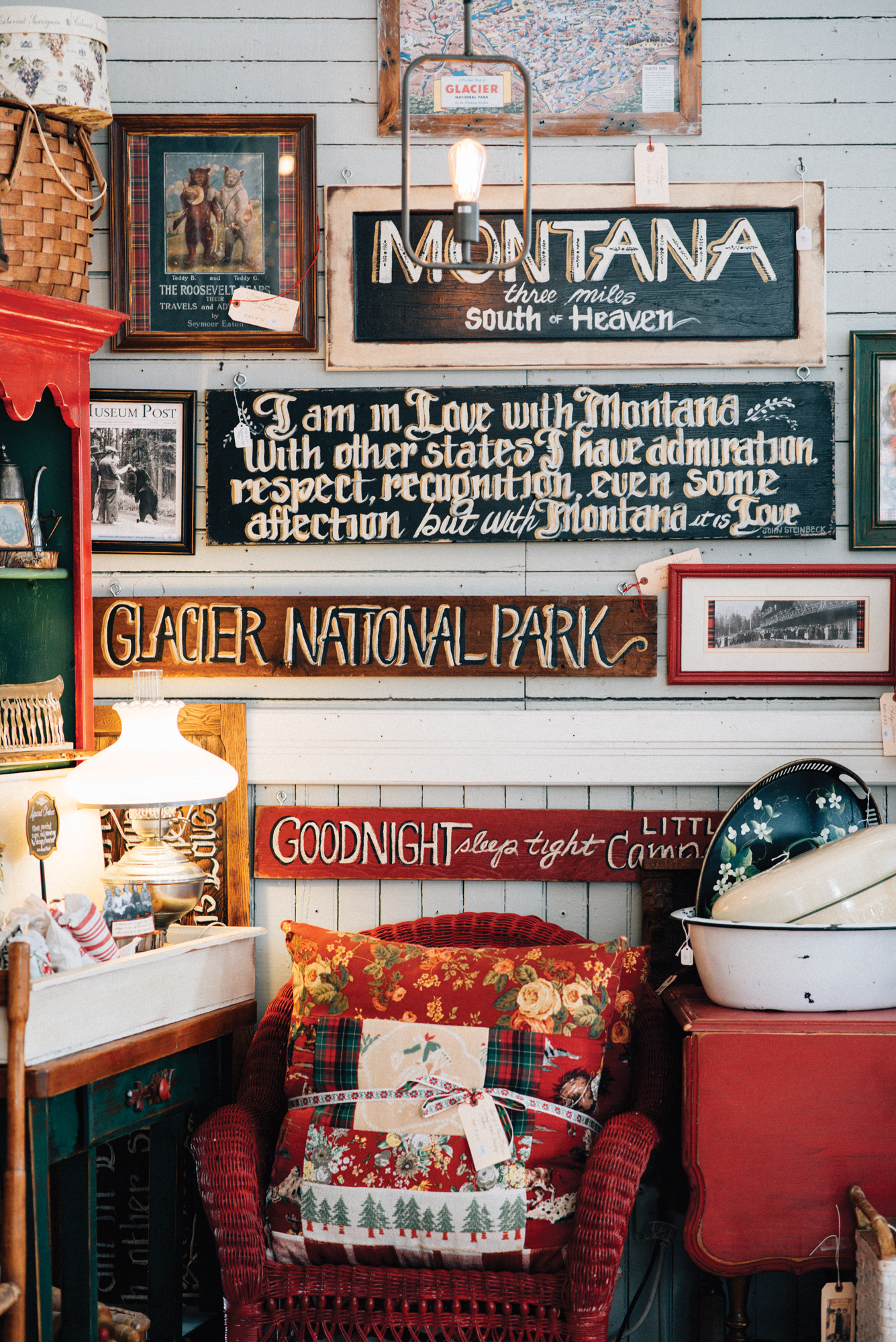 Holly's space in The Shops at Station 8 in Columbia Falls, MT. ©Megan Crawford 2019