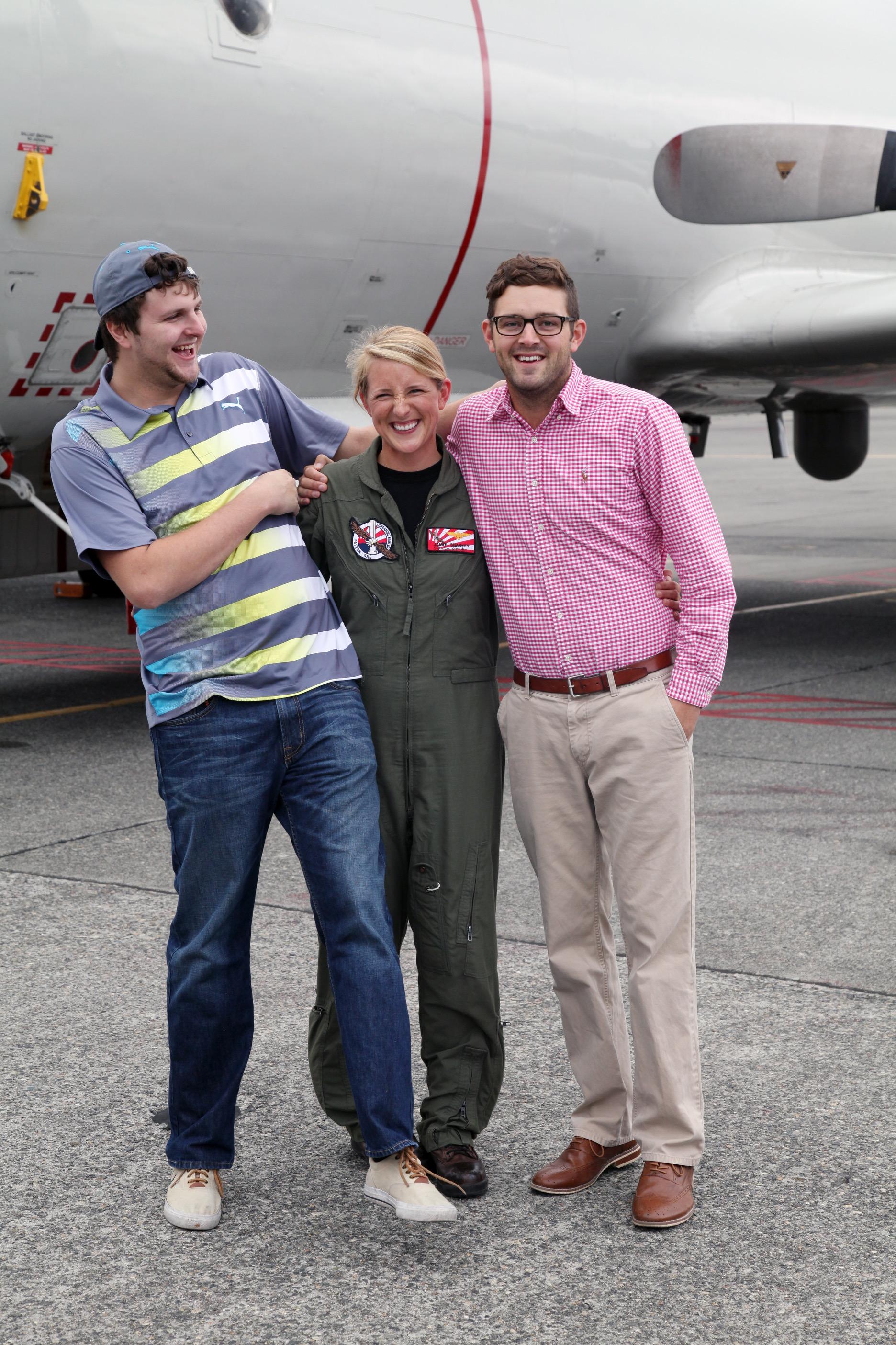 Jamie with her brothers Ryan & Brandon