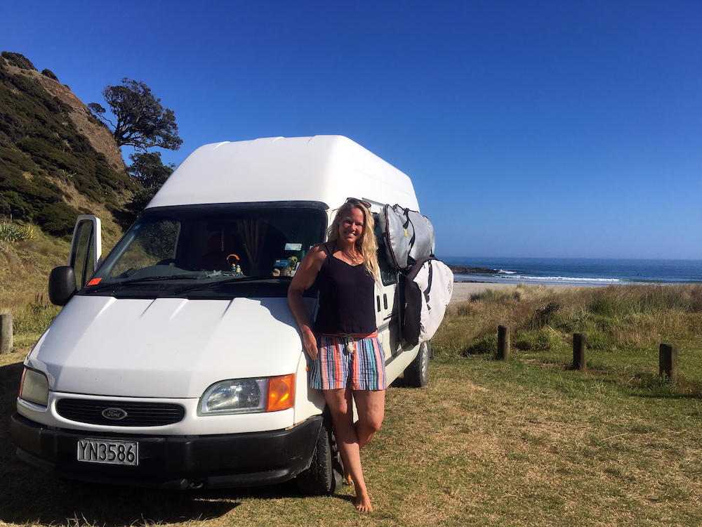 When I'm not writing or working, I love to explore New Zealand in my Campervan.