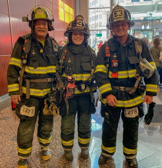 Team Farmington Fire & Rescue at the 2019 Fight For Air Stair Climb.