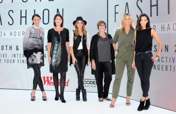 Judging a fashion tech hackathon for Decoded Fashion x Westfield with Caroline Rush from The British Fashion Council, Myf Ryan from Westfield Labs, Millie Mackintosh, Lee Epting from Samsung and Lisa Bridgett from Net-A-Porter