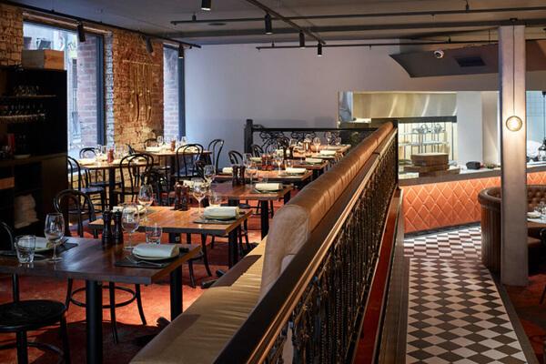 Photo of the Mezzanine at Melbourne steak restaurant Palermo