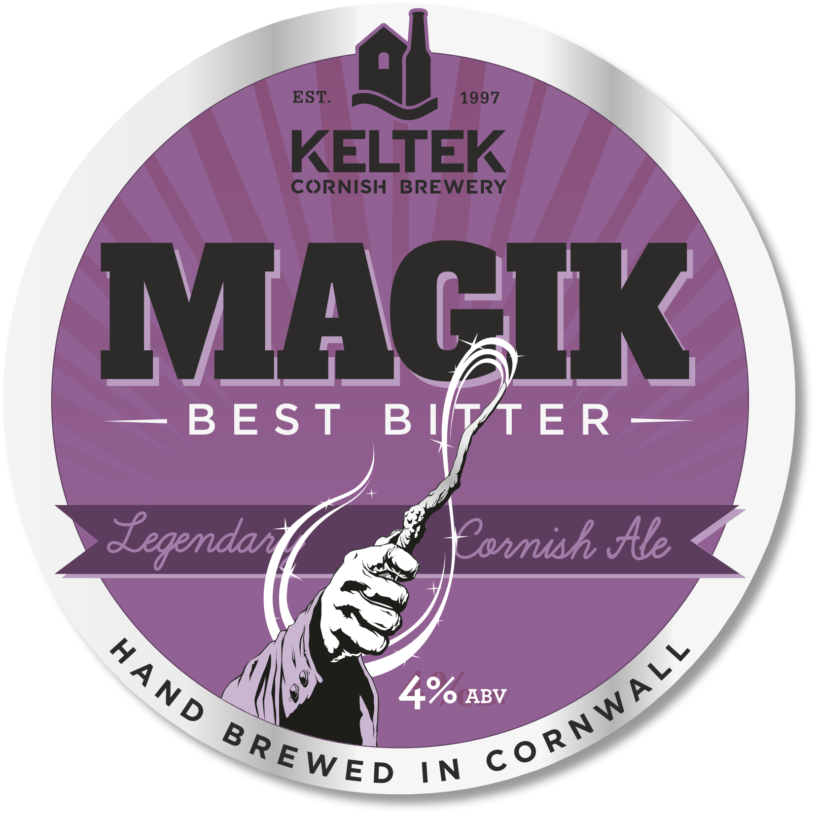 Magik 4.0% - Our flagship bitter, full of hops and malt flavours with gentle bitterness. Winner of the SIBA South West Champion Bitter Award – Twice!