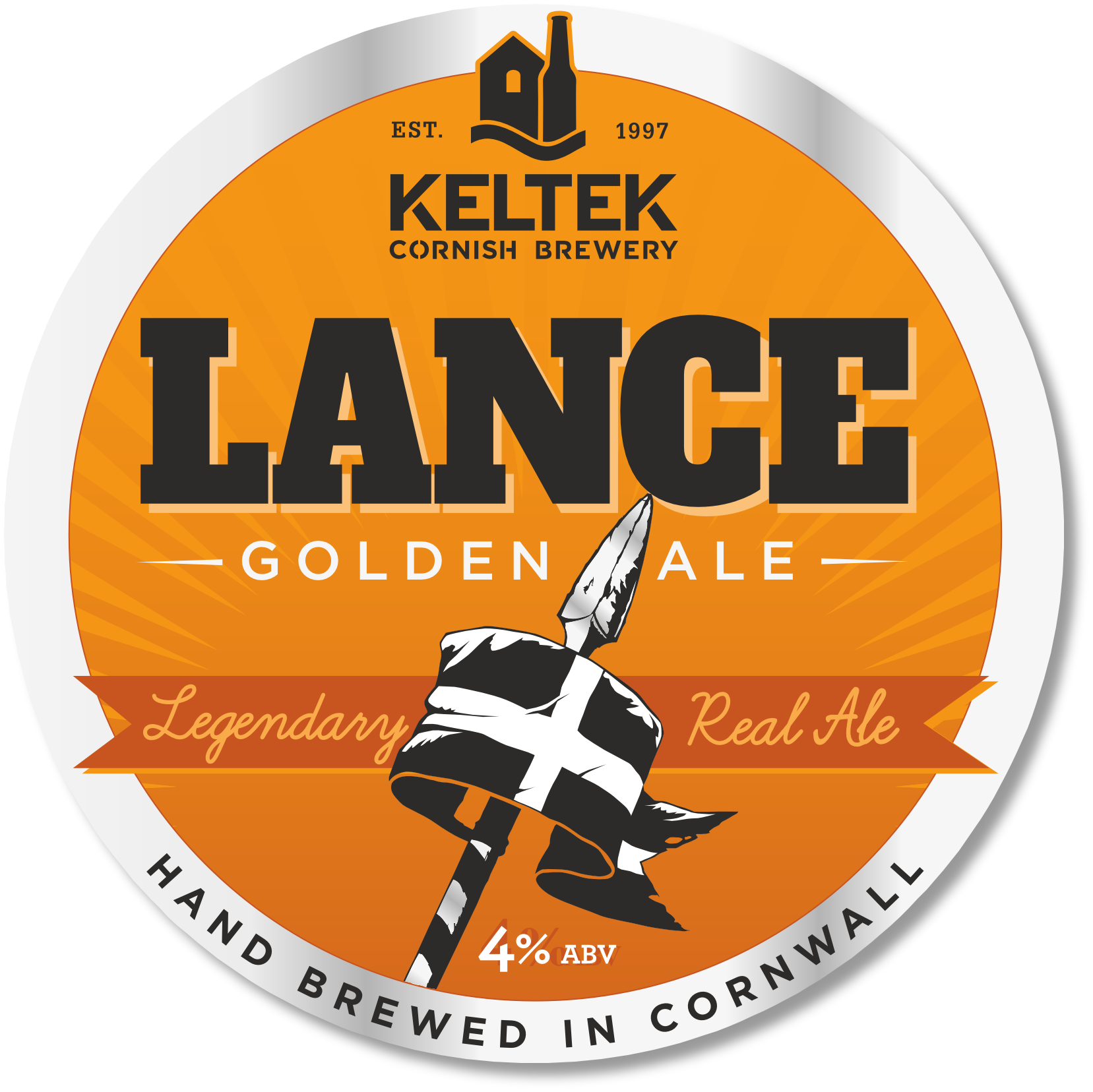 Lance 4.0% - A refreshing, easy-drinking golden ale, with light citrus notes and hoppy accents. Winner of both the Cornwall CAMRA Beer Festival Champion Cornish Beer and Cornwall CAMRA Beer Festival Best Session Bitter Awards.