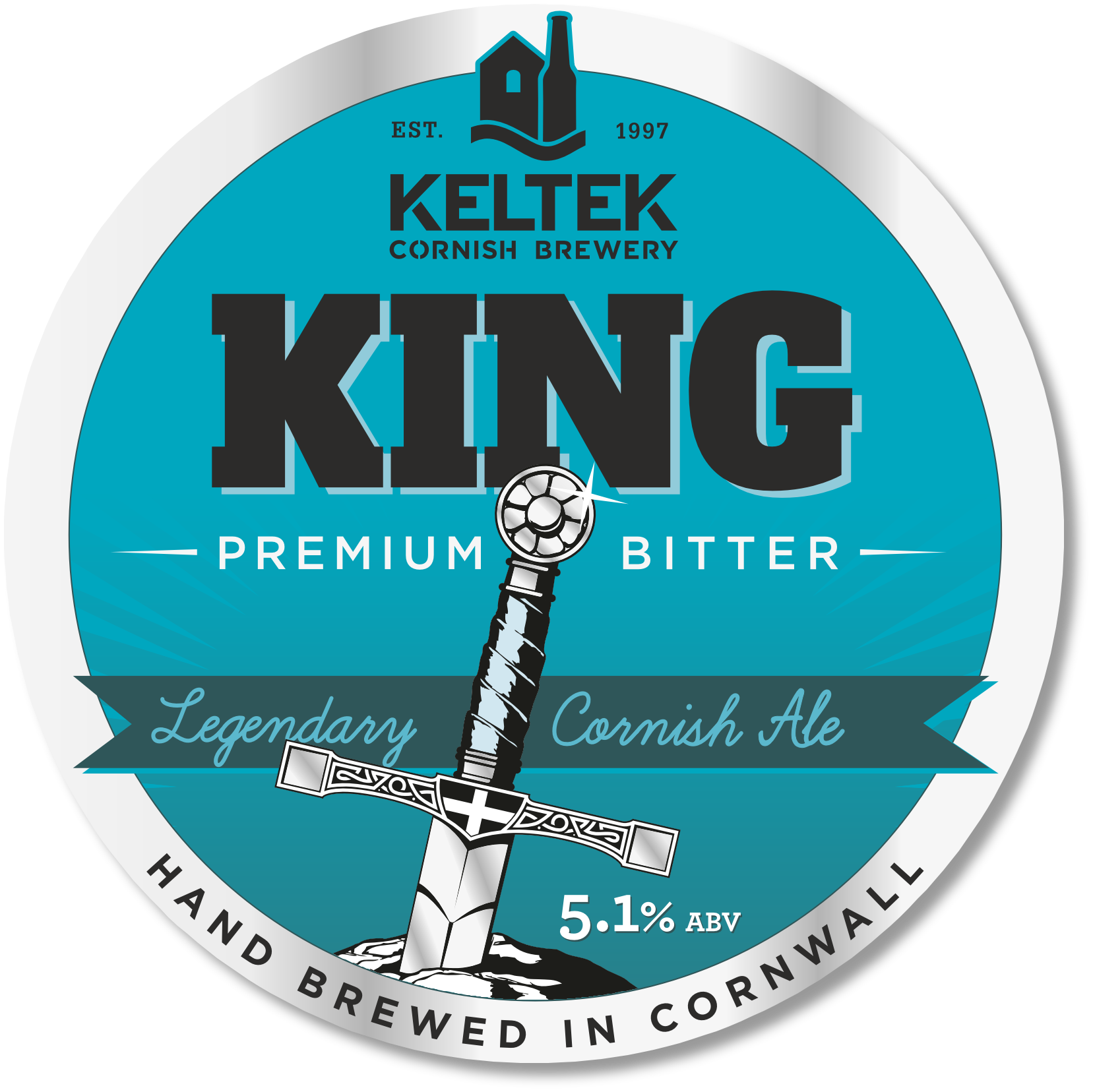 Keltek King 5.1% - A premium bitter, exceptionally well balanced and long-lasting on the palate. Winner of a host of awards, including Champion Bottled Beer at the SIBA UK National Brewing Awards and First Place Winner at the International World of Beer Awards, USA.