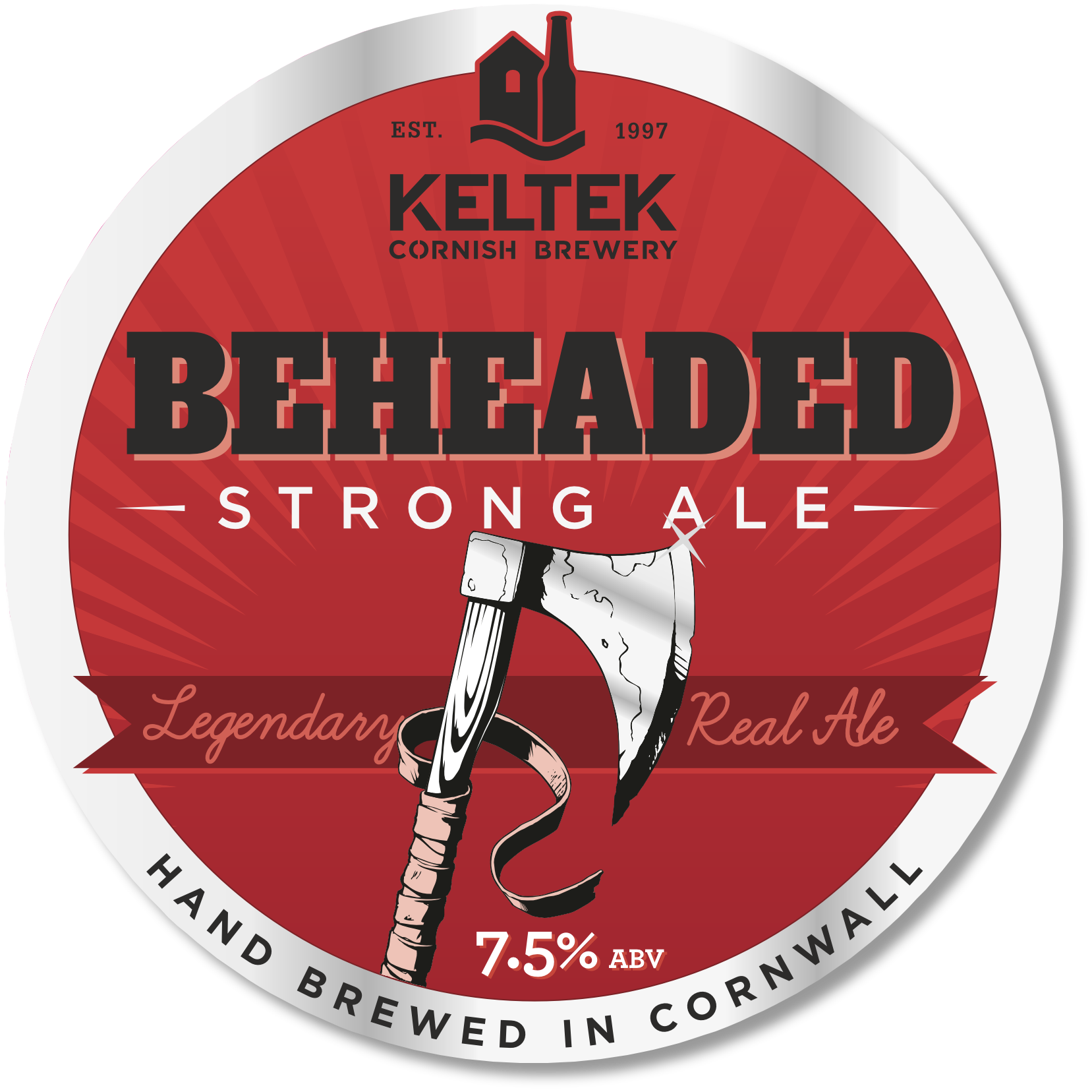 Beheaded 7.5% - Beheaded is our strongest ale; dark and deceptive with a smooth, slightly sweet first impression and none of the alcoholic twang often associated with strong beers. Its complex, indulgent flavour is legendary. SIBA South West Beer Competition Strong Ales Bronze Medal Winner.