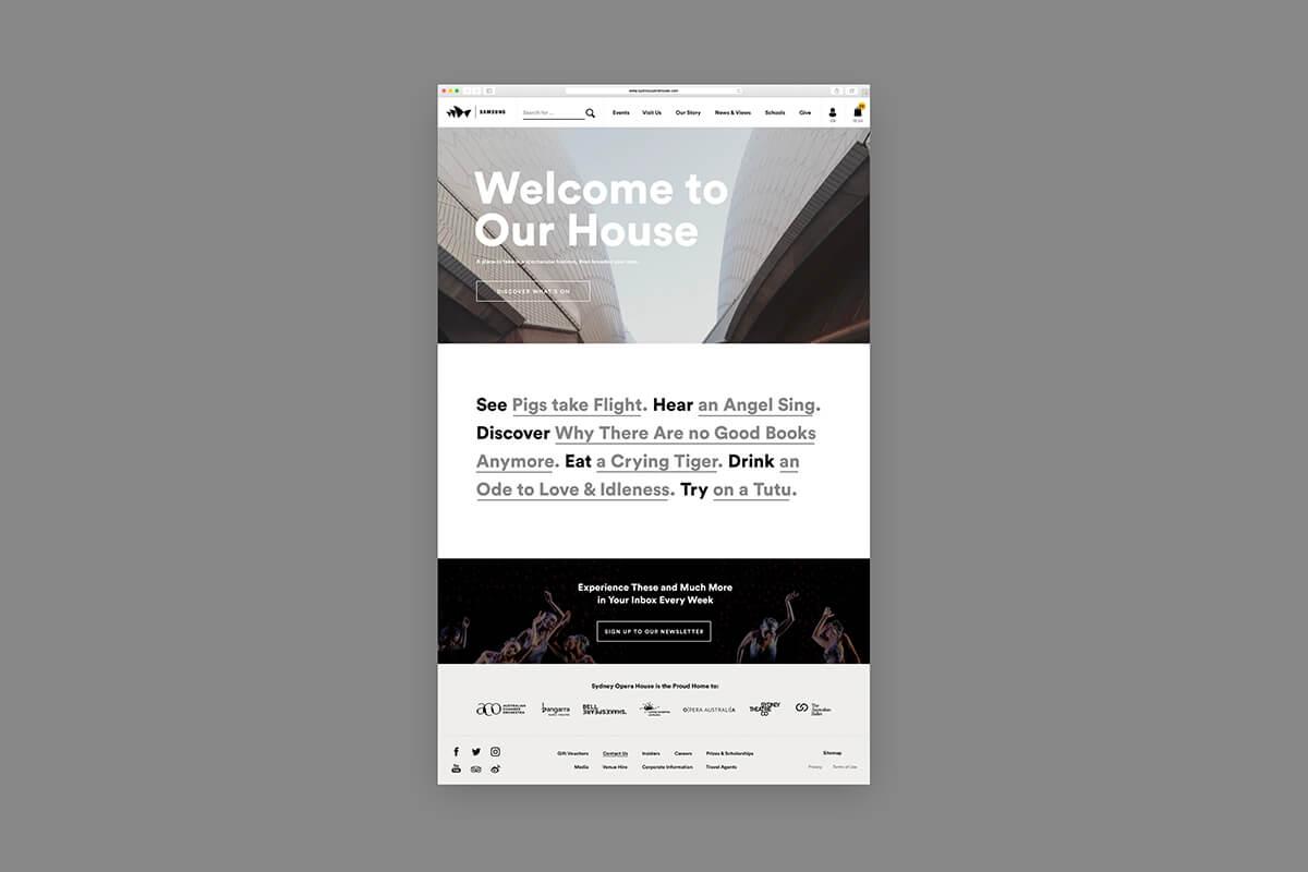 web design - Sydney Opera House Website