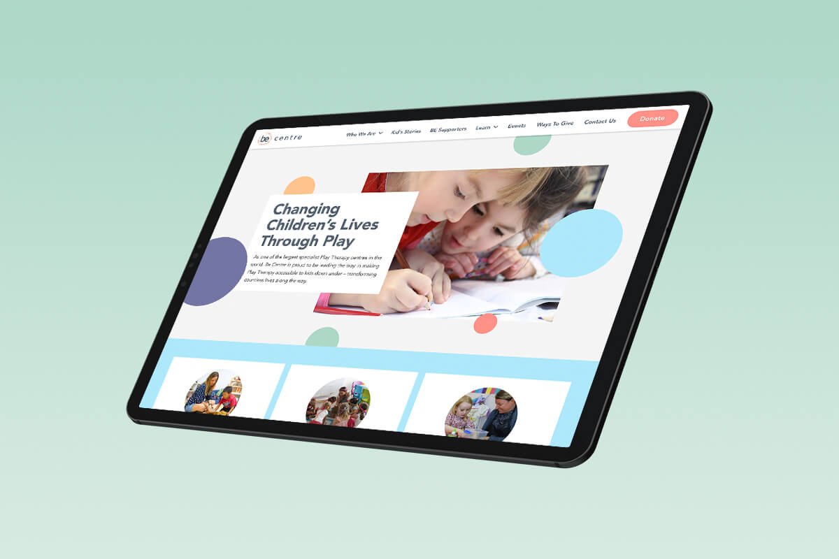 web design | ux - Be Centre Website