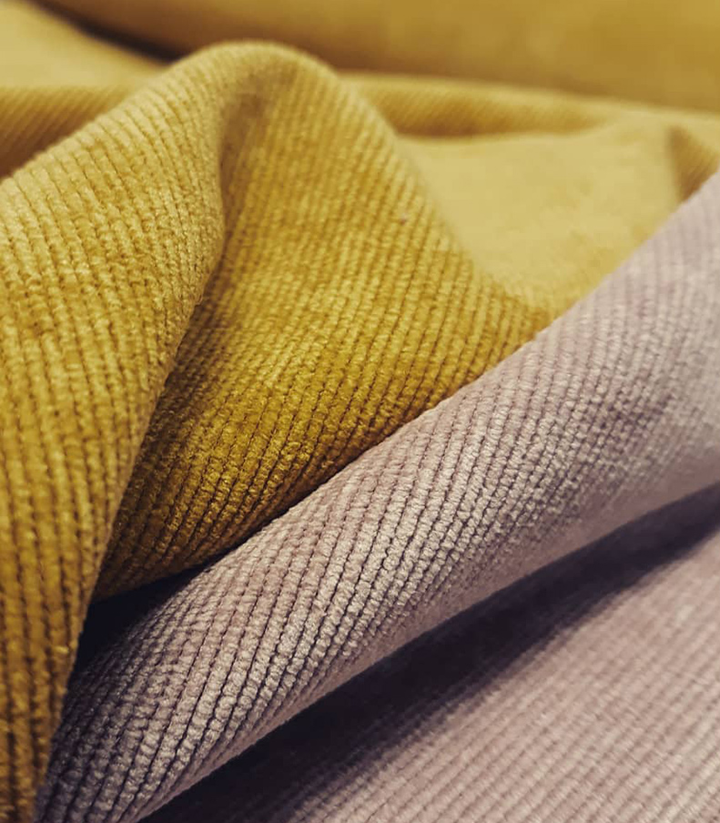 CURTAIN FABRIC - Our curtain department is overflowing with samples of fabrics for you to choose from. Look through mini curtains, sample hangers and books and be inspired!