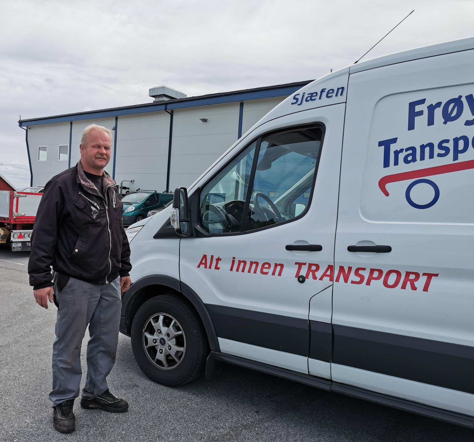Stig Sæther er daglig leder av Frøya Transportsenter.