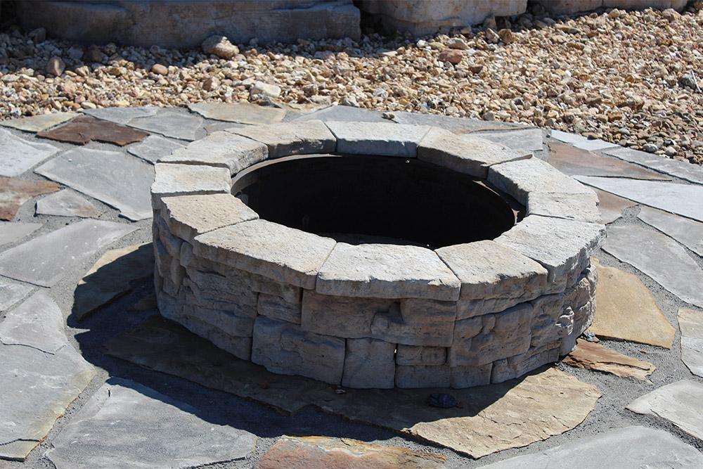 FIRE PITS  Gather your guests around your own warm and welcoming Fire Pit. We have all the pieces to build the Fire Pit that you have dreamed up.