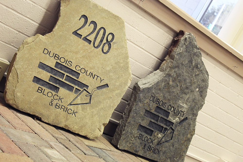 CUSTOM ENGRAVING  Personalize your landscaping with our custom engraving. We can engrave house numbers, names, and even business logos.