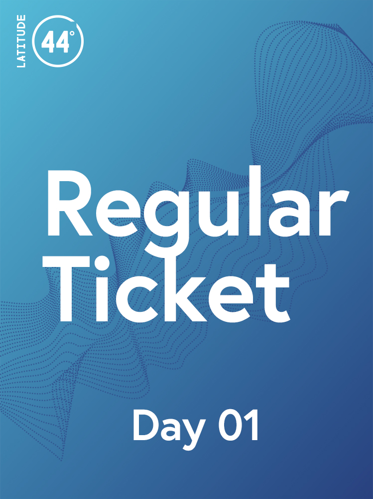 Regular Ticket: Latitude 44 - November 14   Entrance to the conference on November 14, including coffee and food for the day. This ticket also includes the opening reception at WE: Global Learning Centre.
