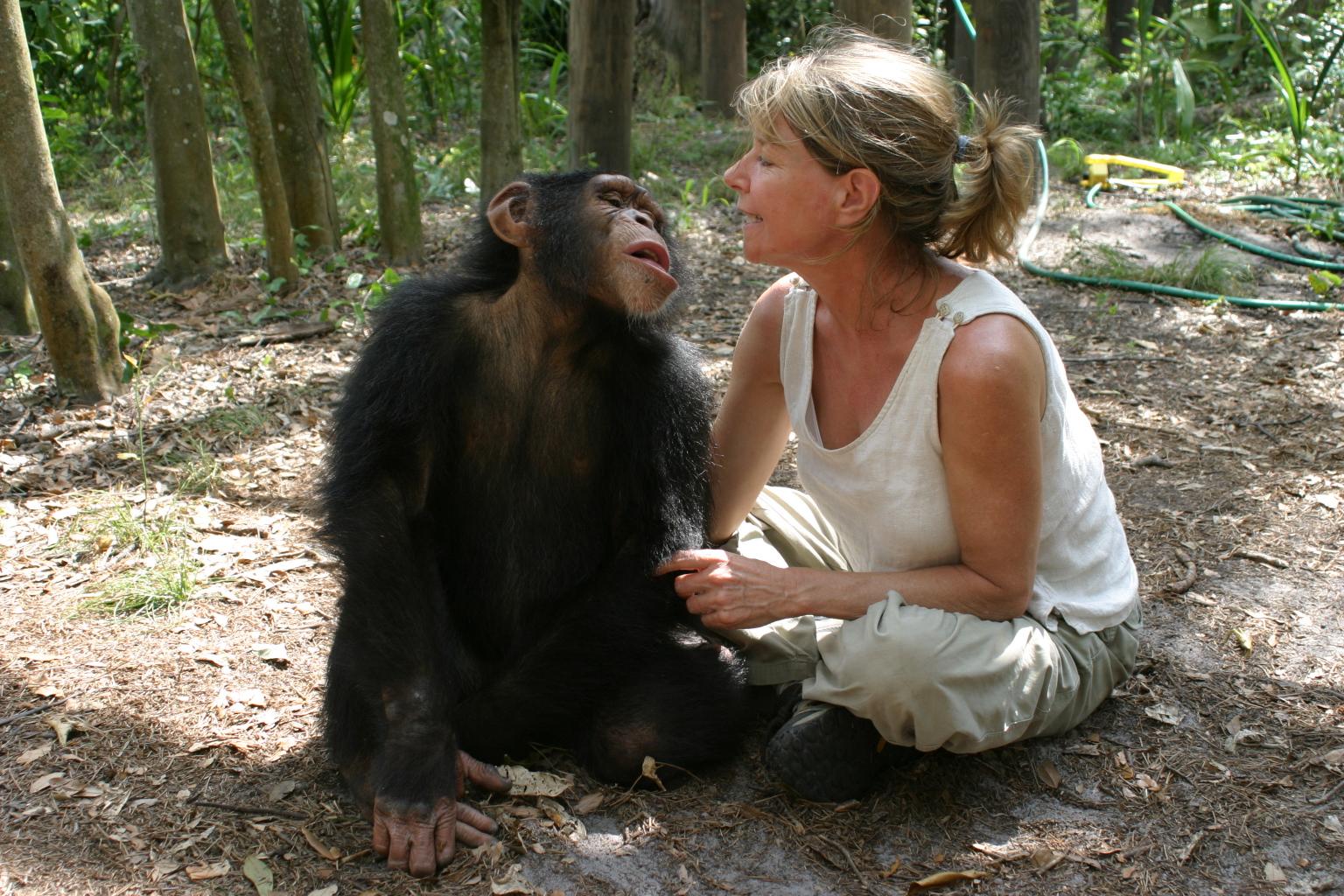 Allison Argo with friend Knuckles