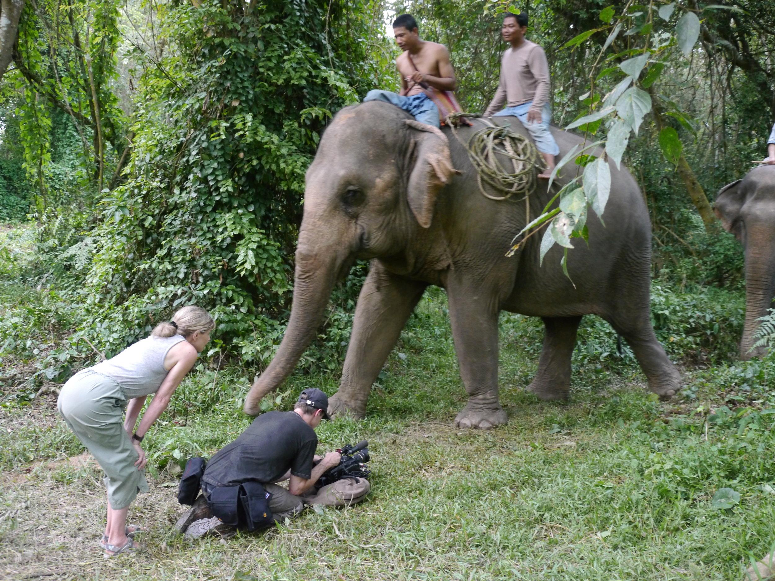 Director Allison Argo and cinematographer Joe Pontecorvo filming in Asia.JPG