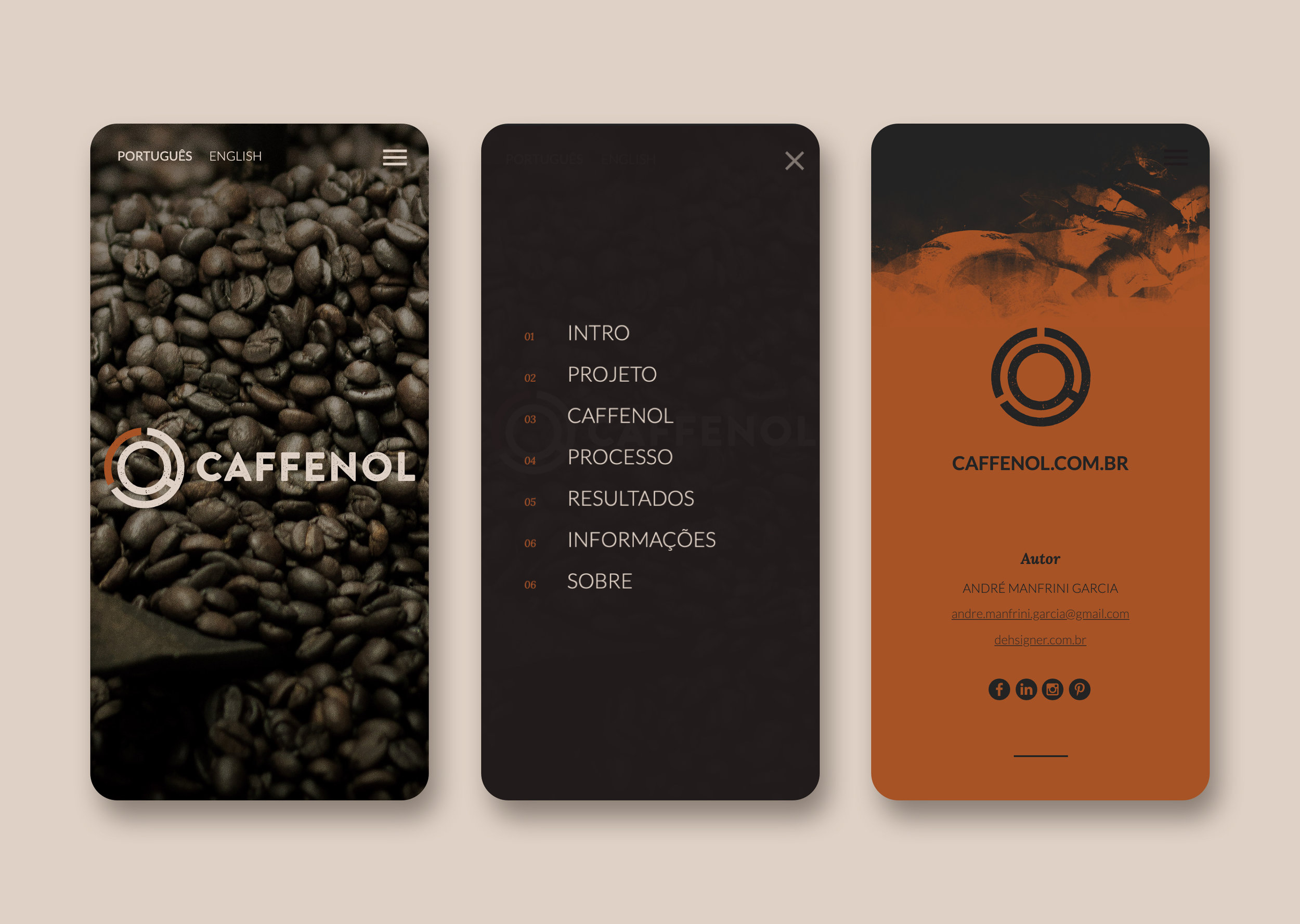 Caffenol website (mobile)