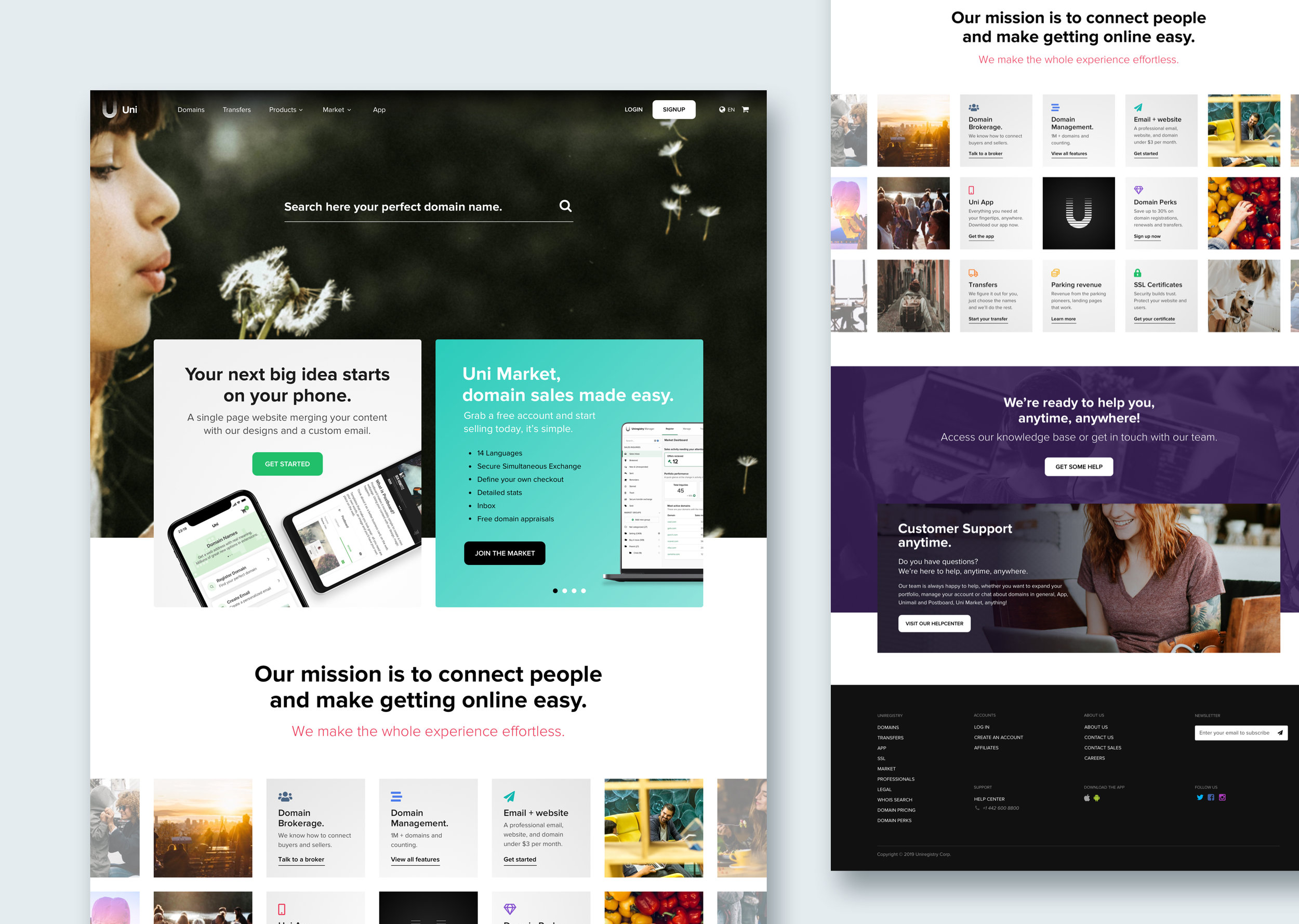 Uniregistry.com redesign
