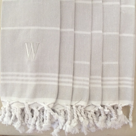 Turkish cotton bath towels with custom Greencrest monogram. $55 each, or set of 2 for $100.
